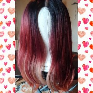 Custom Dyed Red Lace Front Wig by Vixtina